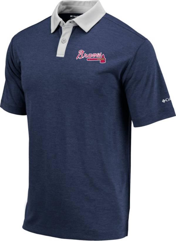 Columbia Men's Atlanta Braves Navy Omni-Wick Range Polo product image