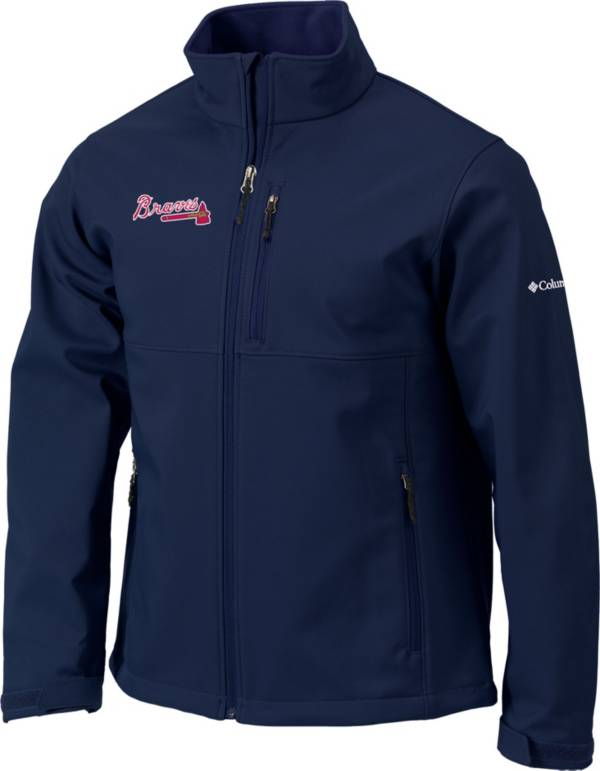 Columbia Men's Atlanta Braves Navy Ascender Full-Zip Softshell Jacket product image