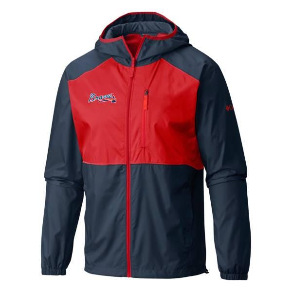 Columbia Men's Atlanta Braves Navy Flash Forward Full-Zip Windbreaker Jacket product image
