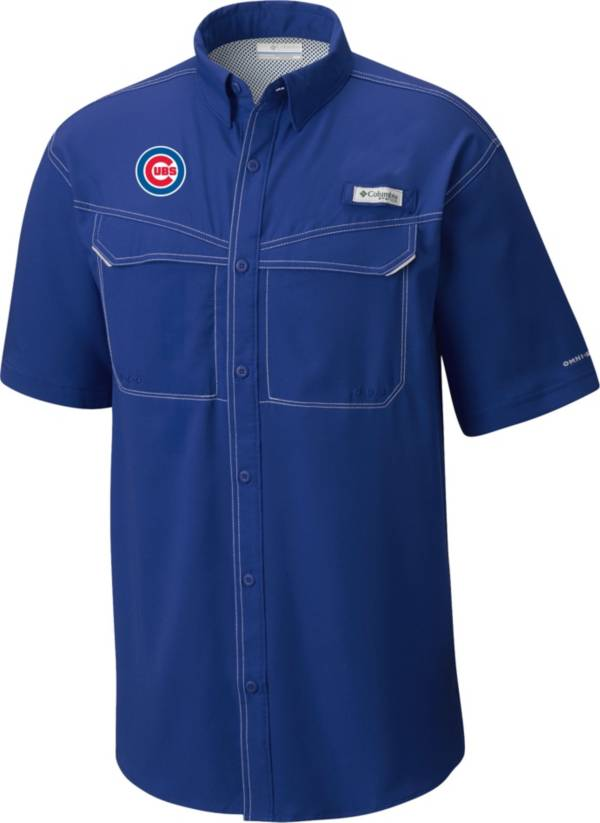 Columbia Men's Chicago Cubs Blue Low Drag Offshore Performance Short Sleeve Shirt product image