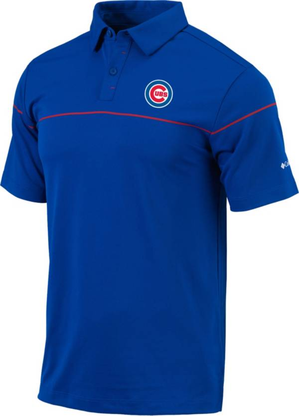 Columbia Men's Chicago Cubs Blue Omni-Wick Breaker Polo product image