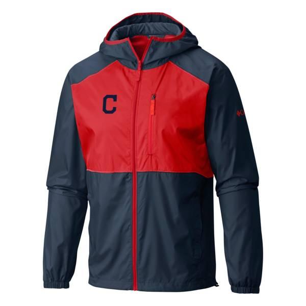 Columbia Men's Cleveland Indians Red Flash Forward Full-Zip Windbreaker Jacket product image