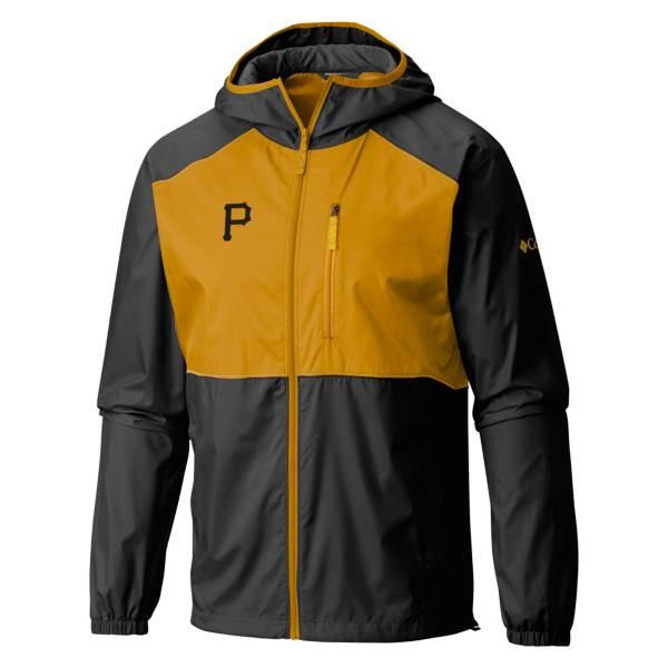 Columbia Men's Pittsburgh Pirates Black Flash Forward Full-Zip Windbreaker Jacket product image