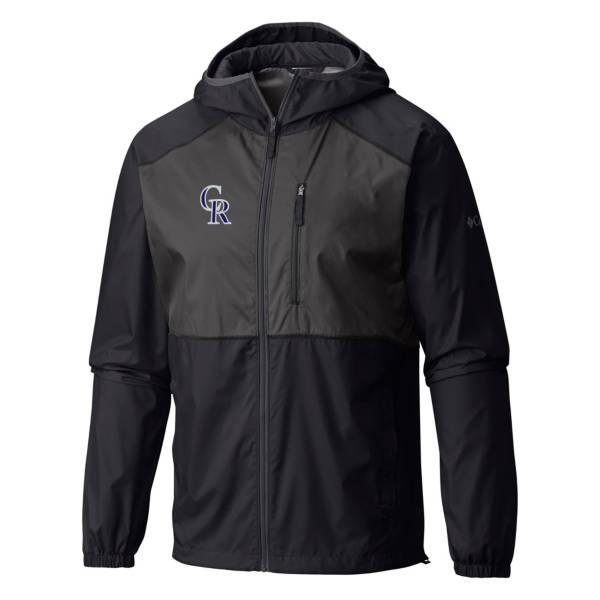 Columbia Men's Colorado Rockies Purple Flash Forward Full-Zip Windbreaker Jacket product image