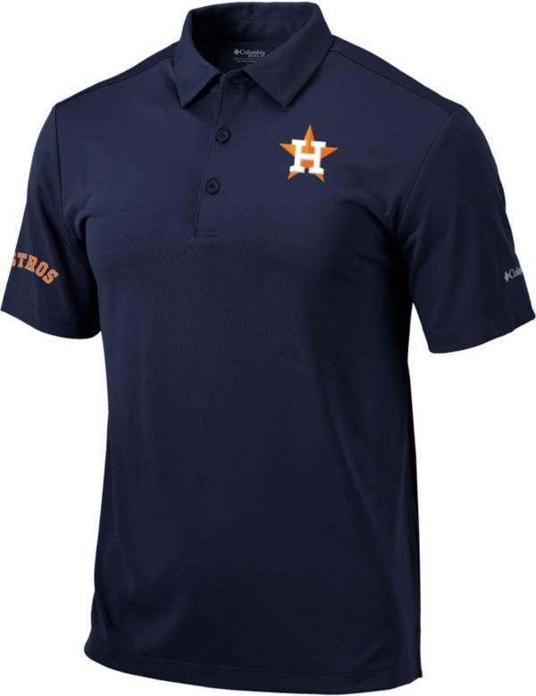 Columbia Men's Houston Astros Navy Omni-Wick Drive Polo product image