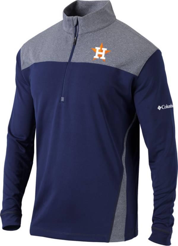 Columbia Men's Houston Astros Navy Omni-Wick Standard Half-Zip Shirt product image