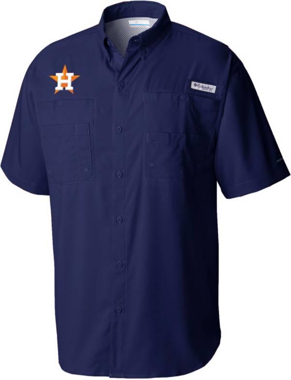 Columbia Men's Houston Astros Navy Tamiami Performance Shirt product image