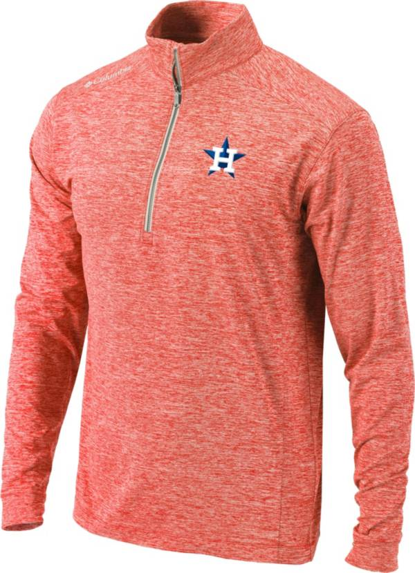 Columbia Men's Houston Astros Orange Power Fade Half-Zip Pullover Shirt product image