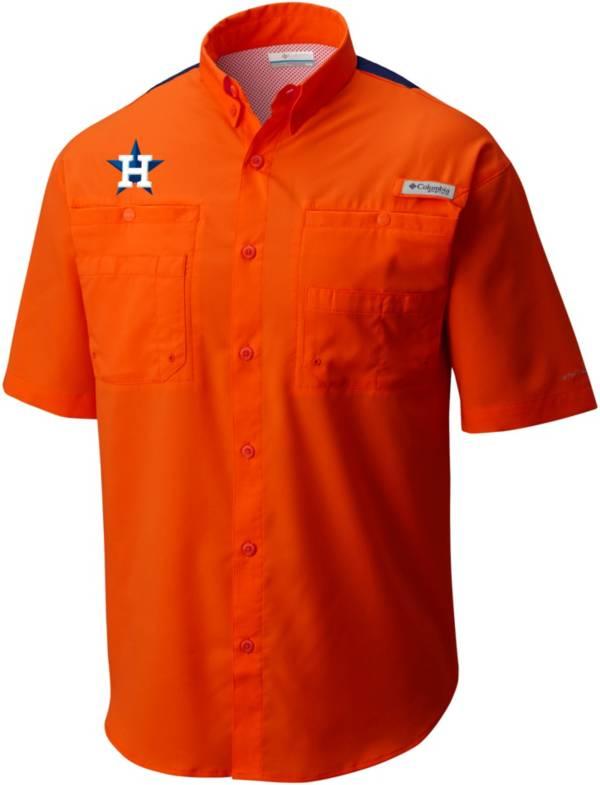 Columbia Men's Houston Astros Orange Tamiami Performance Shirt product image