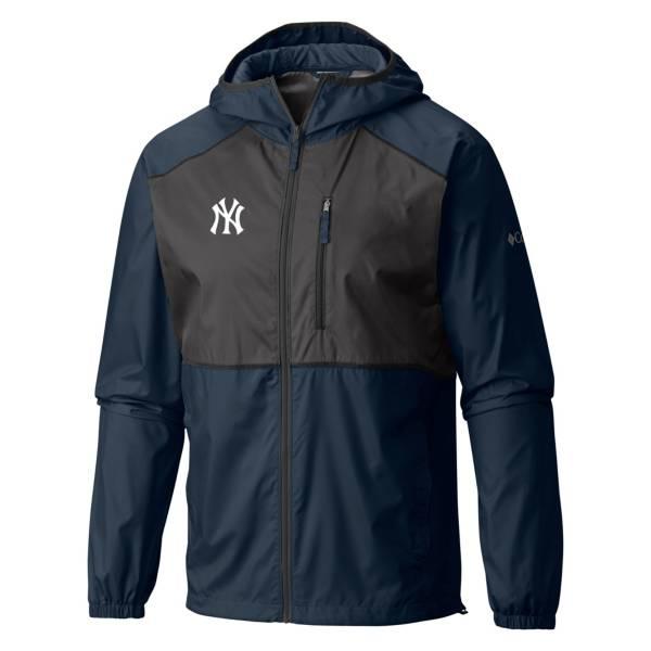Columbia Men's New York Yankees Blue Flash Forward Full-Zip Windbreaker Jacket product image