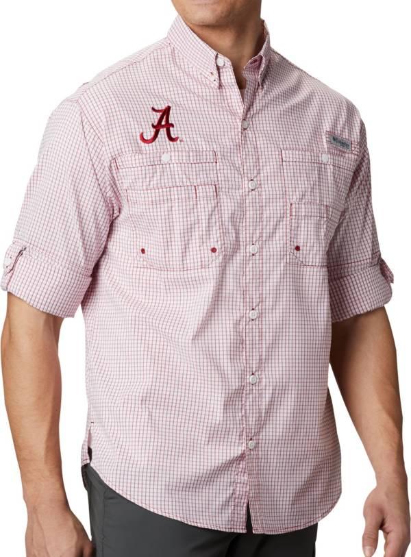 Columbia Men's Alabama Crimson Tide Crimson Gingham Long Sleeve Tamiami Shirt product image