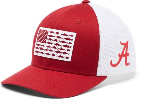 Columbia Men's Alabama Crimson Tide Crimson PFG Flag Mesh Fitted Hat product image