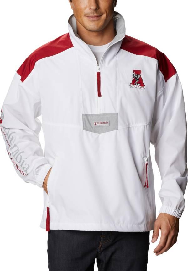 Columbia Men's Alabama Crimson Tide Santa Ana Quarter-Zip Anorak White Jacket product image