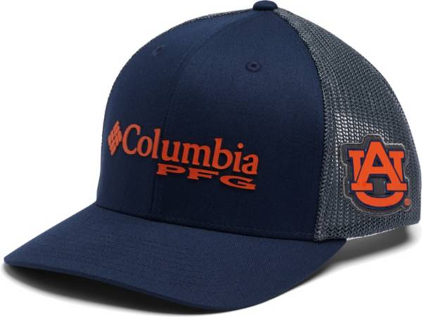 Columbia Men's Auburn Tigers Blue PFG Mesh Fitted Hat product image