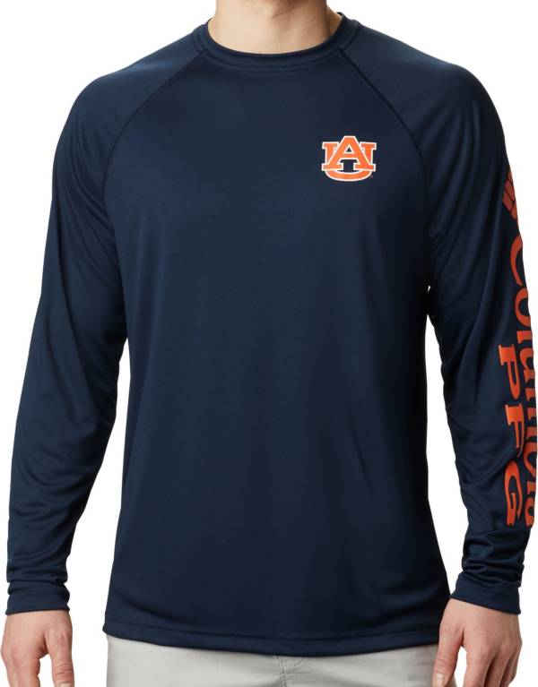Columbia Men's Auburn Tigers Blue Terminal Tackle Long Sleeve T-Shirt product image