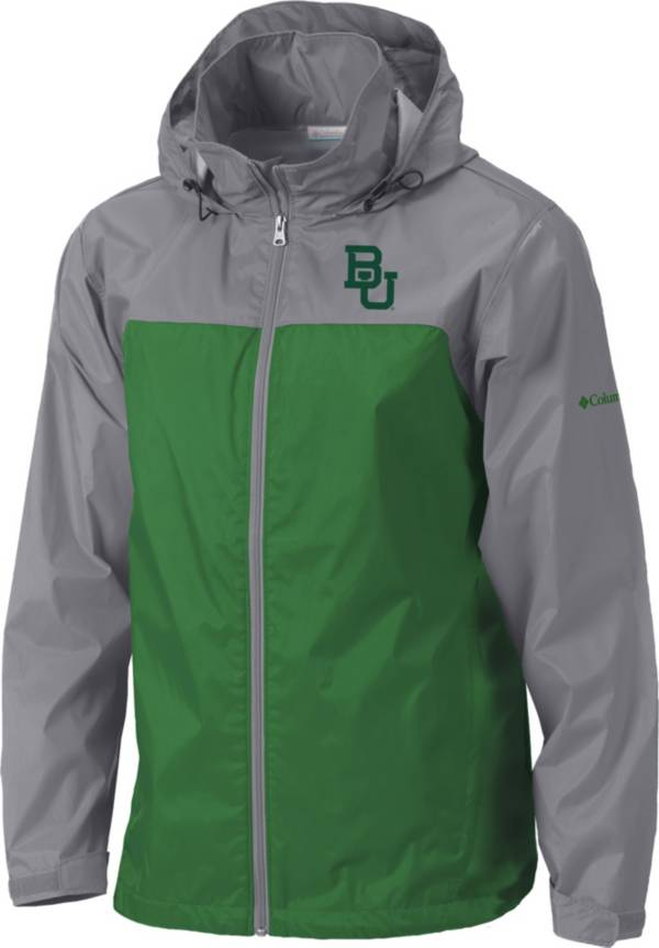 Columbia Men's Baylor Bears Grey/Green Glennaker Lake II Jacket product image