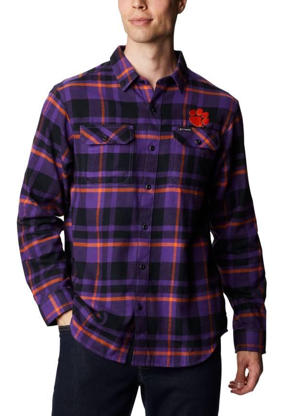 Columbia Men's Clemson Tigers Regalia Plaid Flare Gun Flannel Long Sleeve Shirt product image