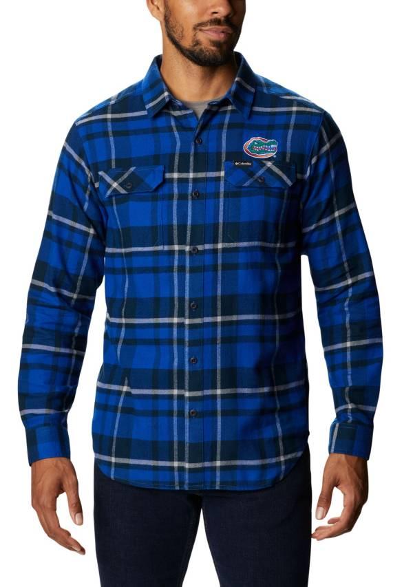 Columbia Men's Florida Gators Orange Plaid Flare Gun Flannel Long Sleeve Shirt product image