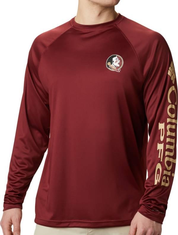 Columbia Men's Florida State Seminoles Garnet Terminal Tackle Long Sleeve T-Shirt product image