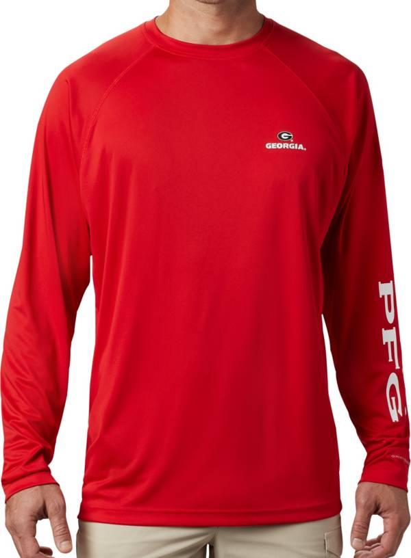 Columbia Men's Georgia Bulldogs Red Terminal Tackle Long Sleeve T-Shirt product image