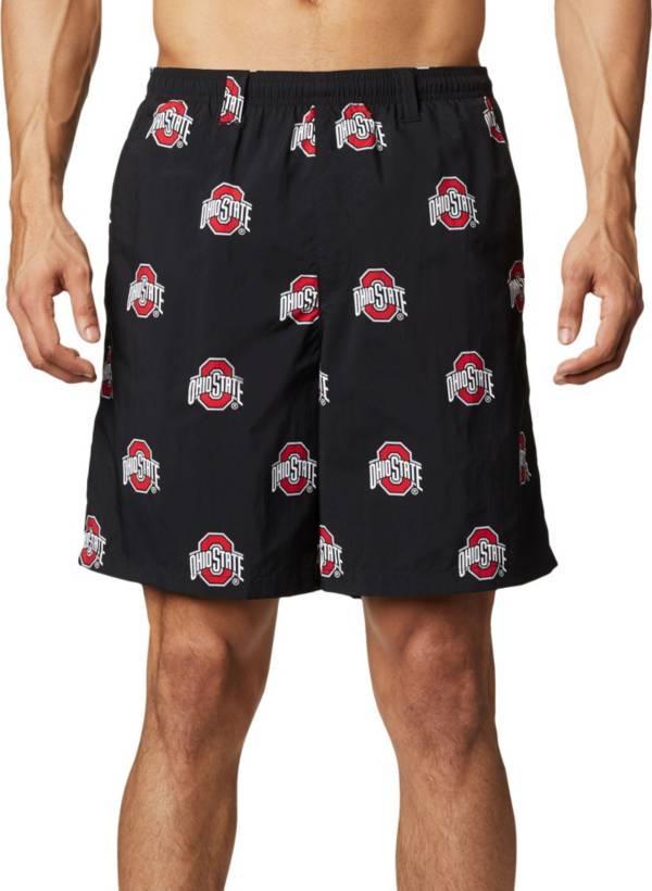 Columbia Men's Ohio State Buckeyes Backcast II Printed Performance Black Shorts product image