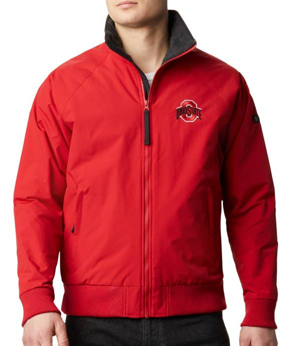 Columbia Men's Ohio State Buckeyes Scarlet Falmouth Full-Zip Jacket product image