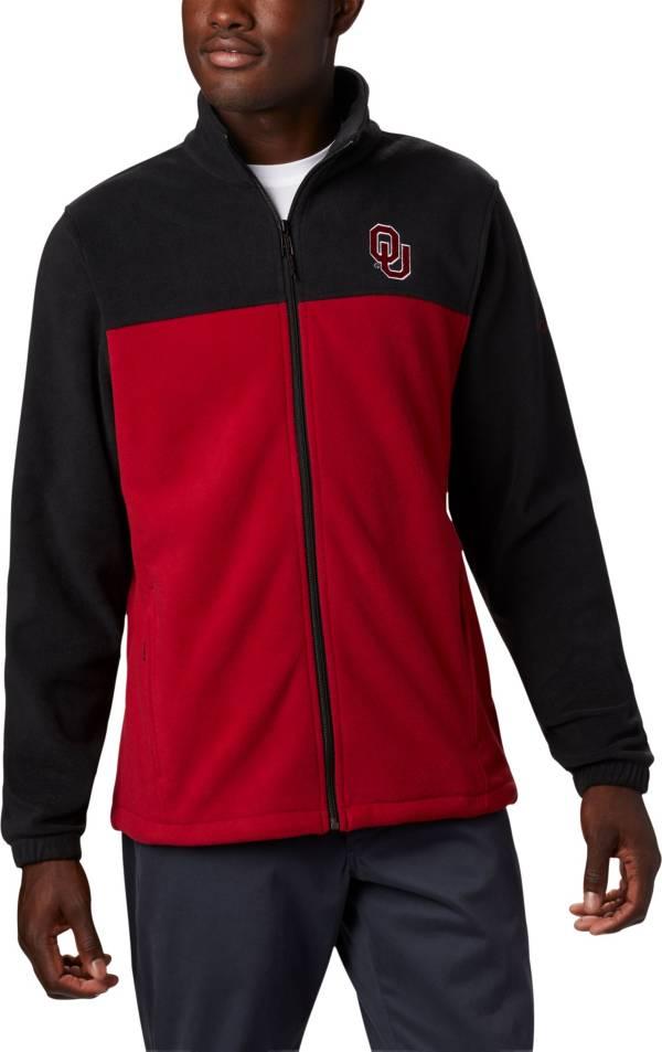 Columbia Men's Oklahoma Sooners Flanker Full-Zip Fleece Black Jacket product image