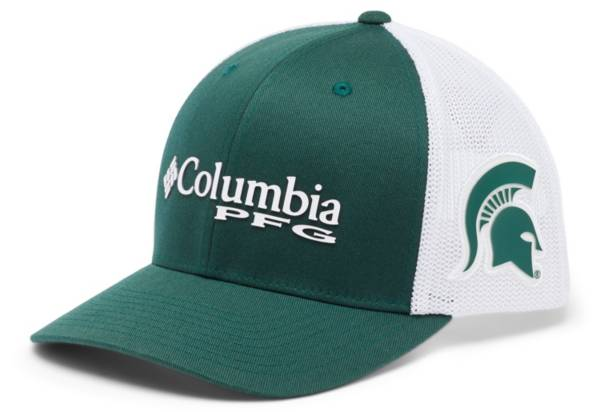 Columbia Men's Michigan State Spartans Green PFG Mesh Fitted Hat product image