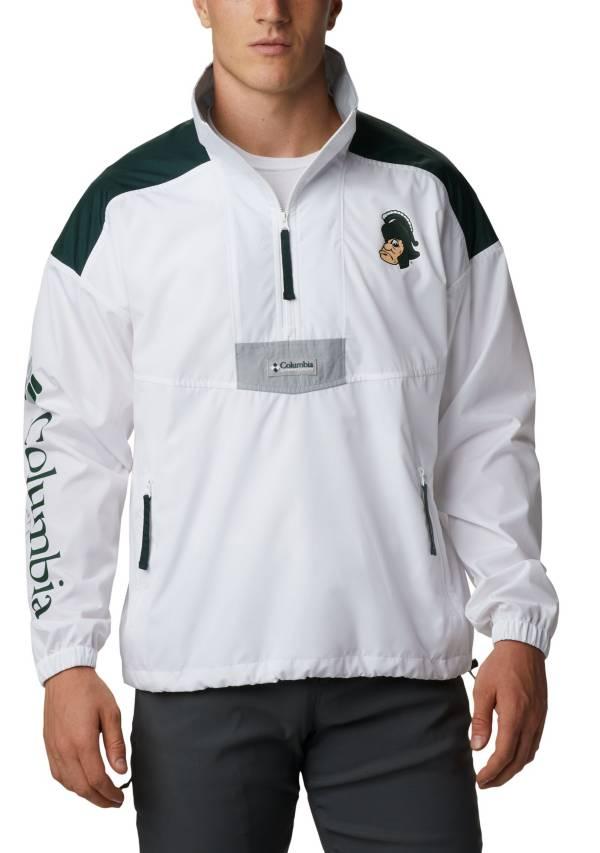 Columbia Men's Michigan State Spartans Santa Ana Quarter-Zip Anorak White Jacket product image