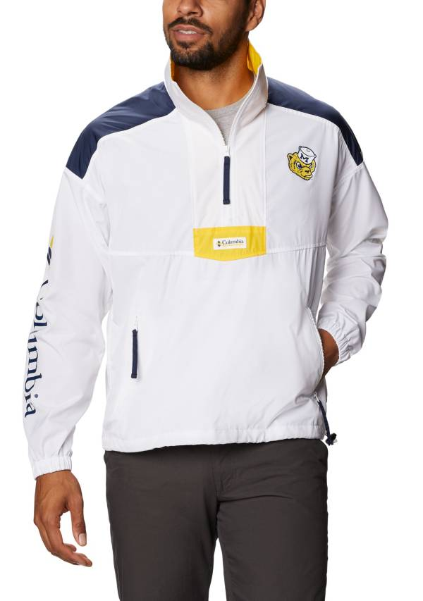 Columbia Men's Michigan Wolverines Santa Ana Quarter-Zip Anorak White Jacket product image