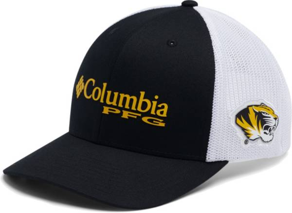 Columbia Men's Missouri Tigers PFG Mesh Fitted Black Hat product image