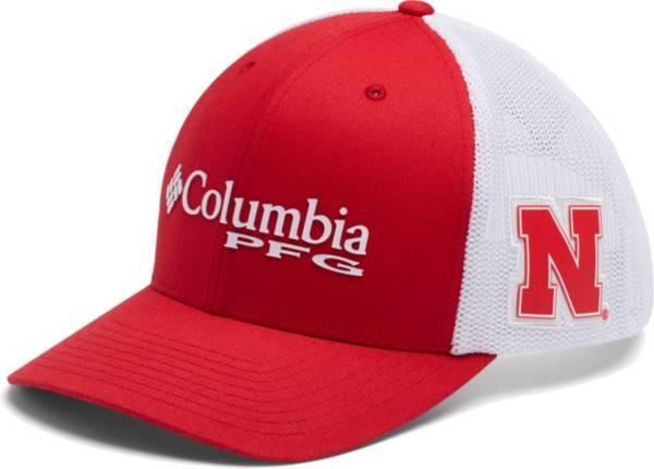 Columbia Men's Nebraska Cornhuskers Scarlet PFG Mesh Fitted Hat product image
