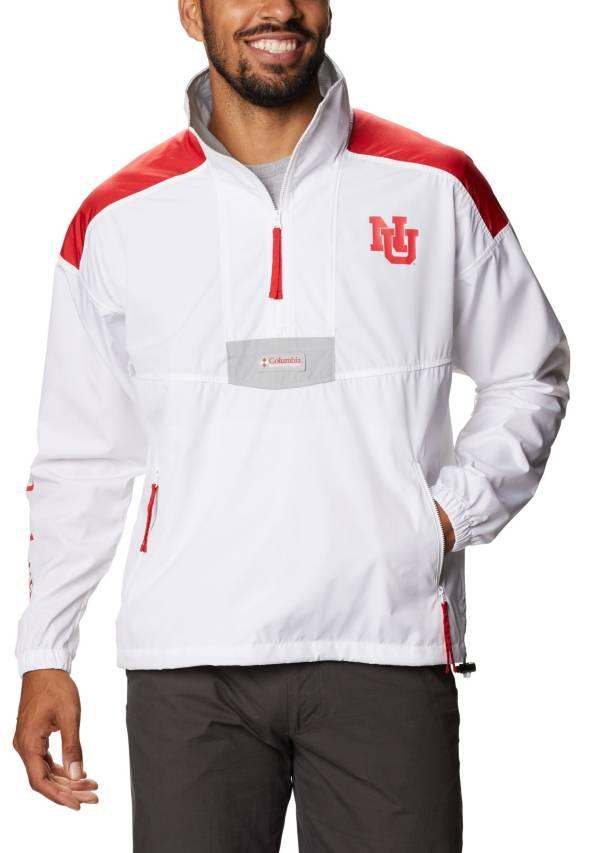 Columbia Men's Nebraska Cornhuskers Santa Ana Quarter-Zip Anorak White Jacket product image