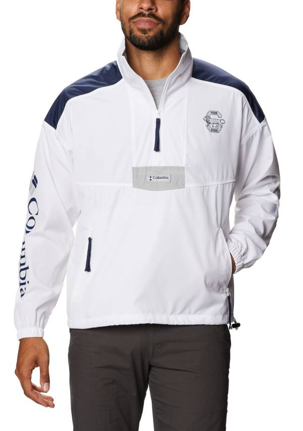 Columbia Men's Penn State Nittany Lions Santa Ana Quarter-Zip Anorak White Jacket product image