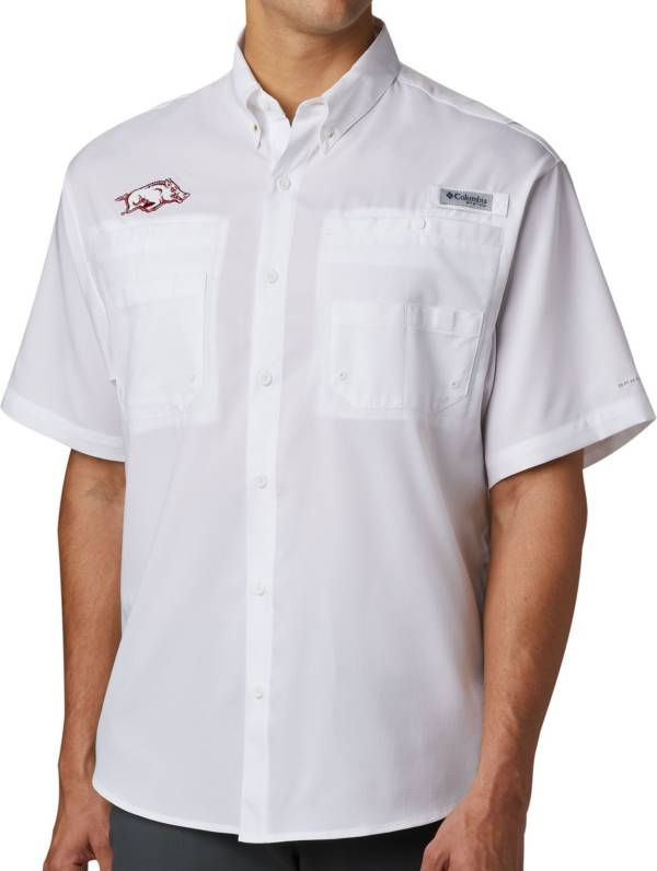 Columbia Men's Arkansas Razorbacks Tamiami Performance White Shirt product image