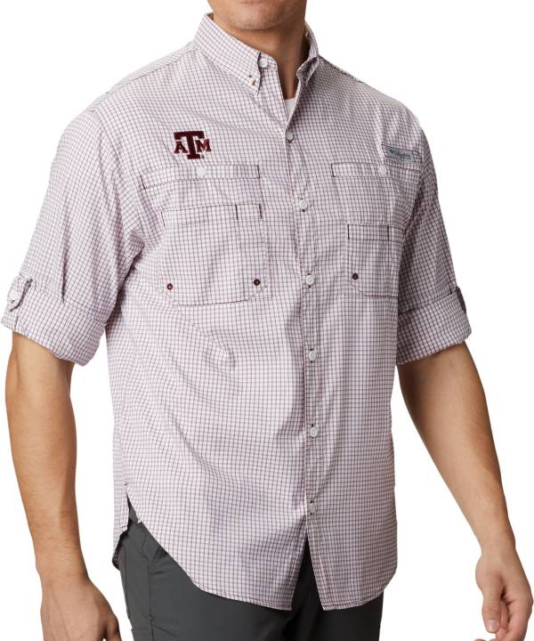 Columbia Men's Texas A&M Aggies Maroon Gingham Long Sleeve Tamiami Shirt product image