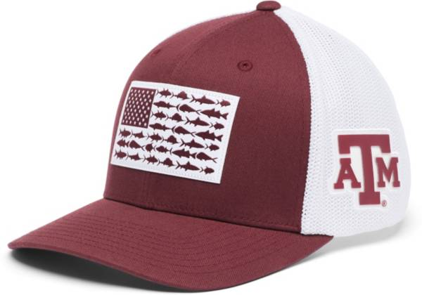 Columbia Men's Texas A&M Aggies Maroon PFG Flag Mesh Fitted Hat product image