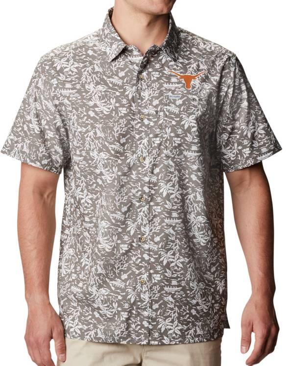 Columbia Men's Texas Longhorns Grey PFG Mesh Fitted Hat product image