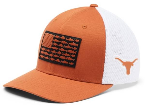 Columbia Men's Texas Longhorns Burnt Orange PFG Flag Mesh Fitted Hat product image