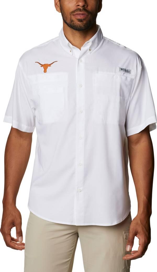 Columbia Men's Texas Longhorns Tamiami Performance White Shirt product image