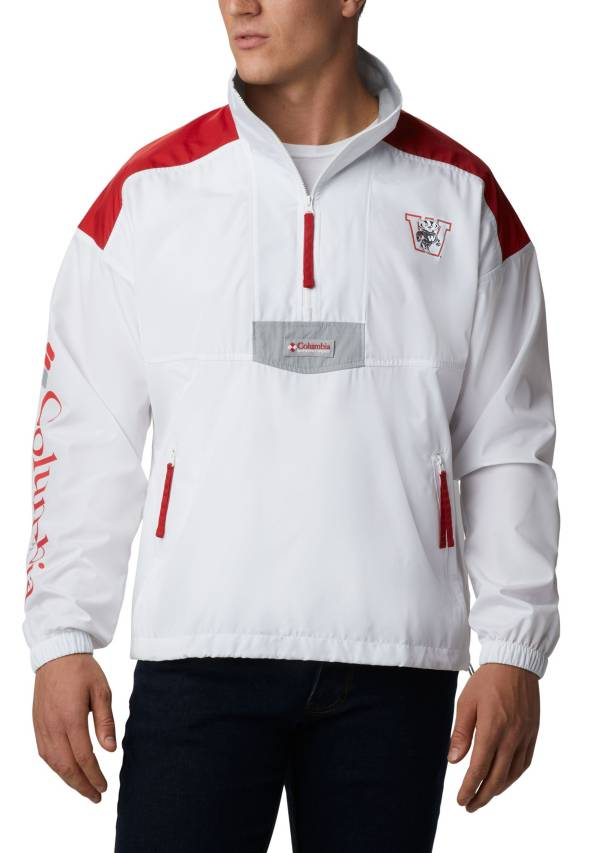 Columbia Men's Wisconsin Badgers Santa Ana Quarter-Zip Anorak White Jacket product image
