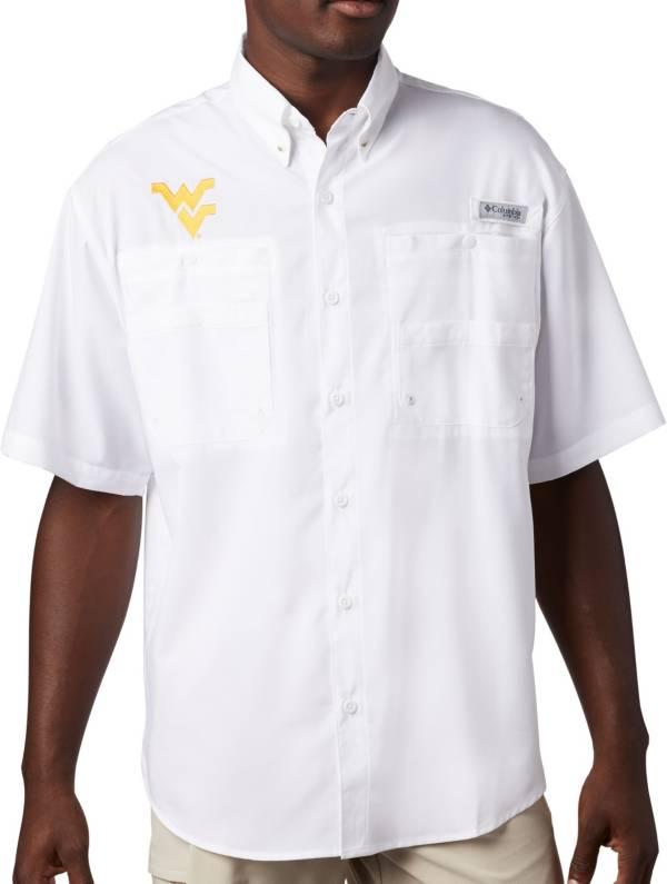 Columbia Men's West Virginia Mountaineers Tamiami Performance White Shirt product image