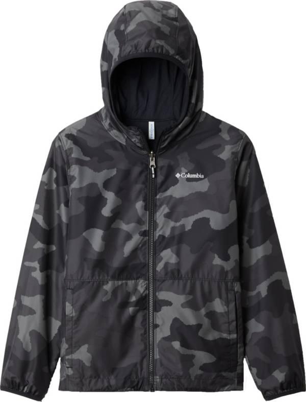 Columbia Youth Reversible Pixel Grabber Rain Jacket product image
