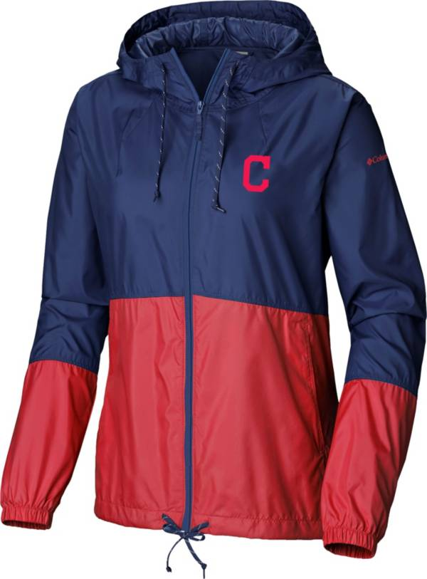 Columbia Women's Cleveland Indians Red Flash Forward Windbreaker product image