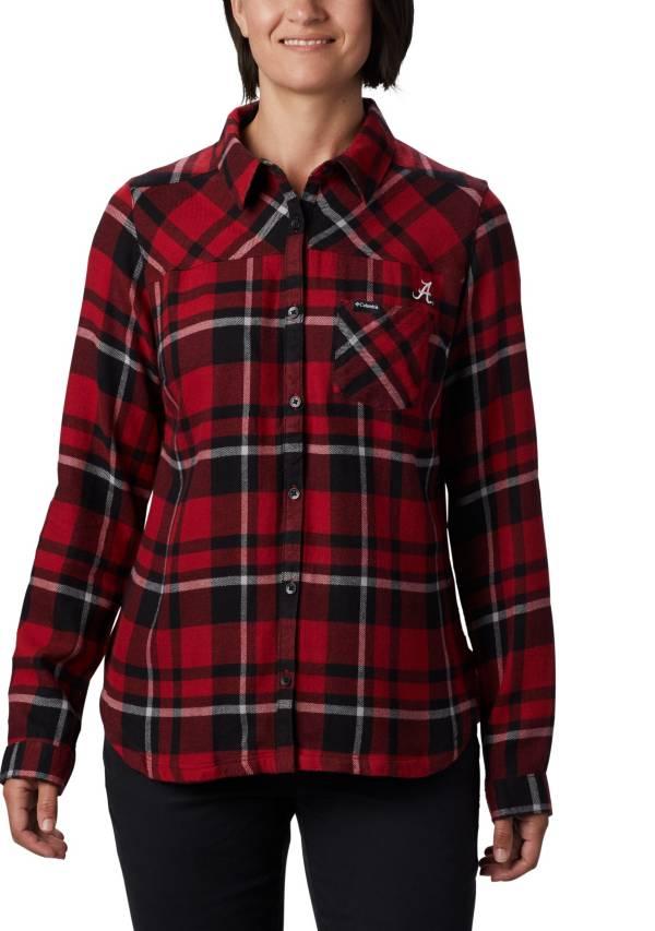 Columbia Women's Alabama Crimson Tide Crimson Plaid Flare Gun Flannel Long Sleeve Shirt product image
