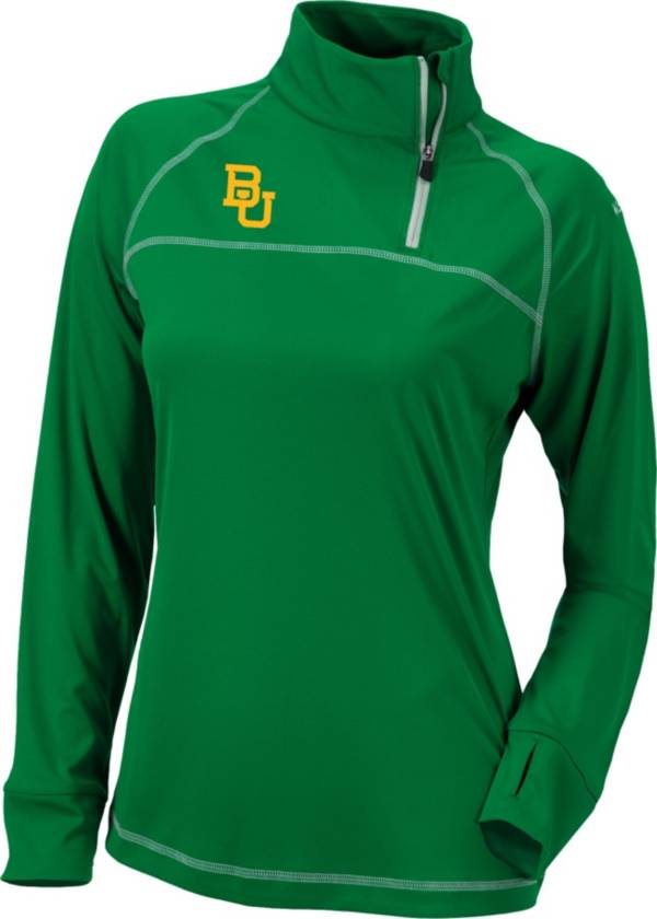 Columbia Women's Baylor Bears Green New Classic Quarter-Zip Shirt product image