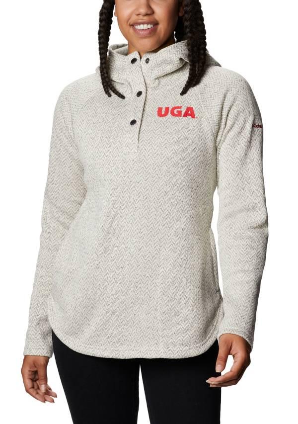 Columbia Women's Georgia Bulldogs Darling Days Half-Snap White Hoodie product image