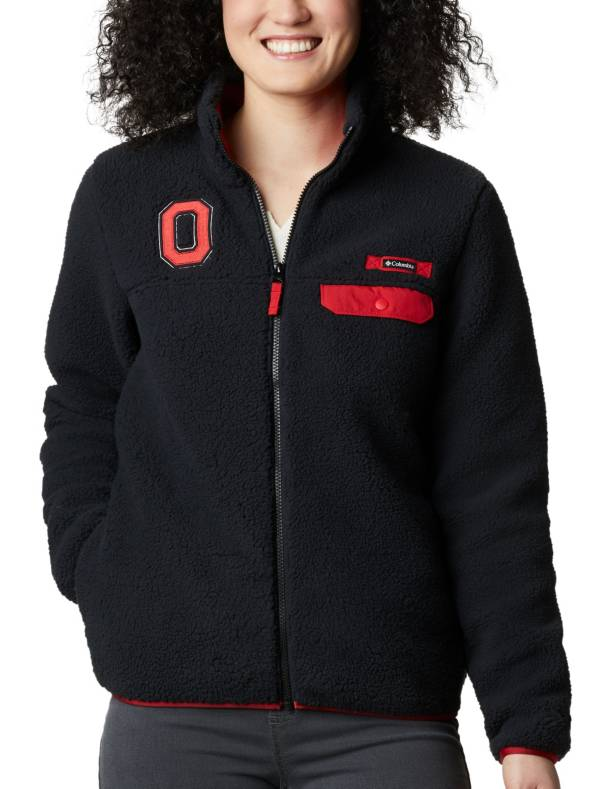 Columbia Women's Ohio State Mountain Side Heavyweight Full-Zip Black Jacket product image