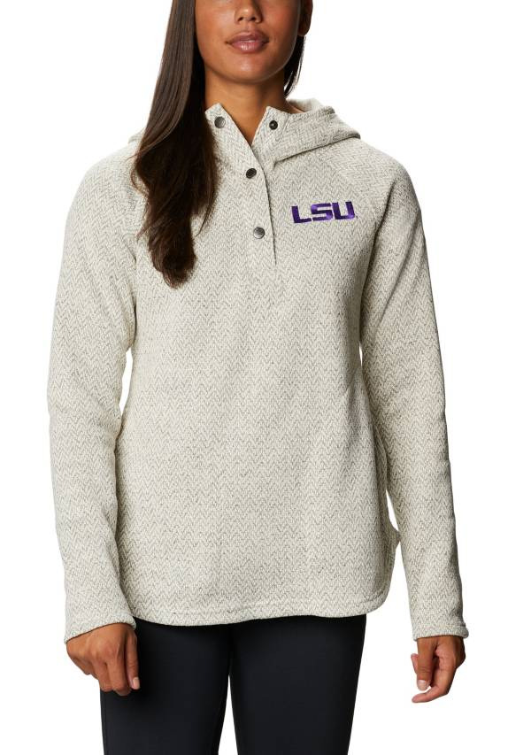 Columbia Women's LSU Tigers Darling Days Full-Zip White Hoodie product image