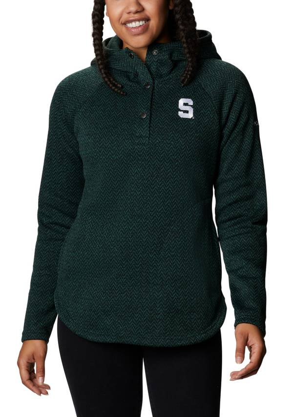 Columbia Women's Michigan State Spartans Green Darling Days Half-Snap Hoodie product image